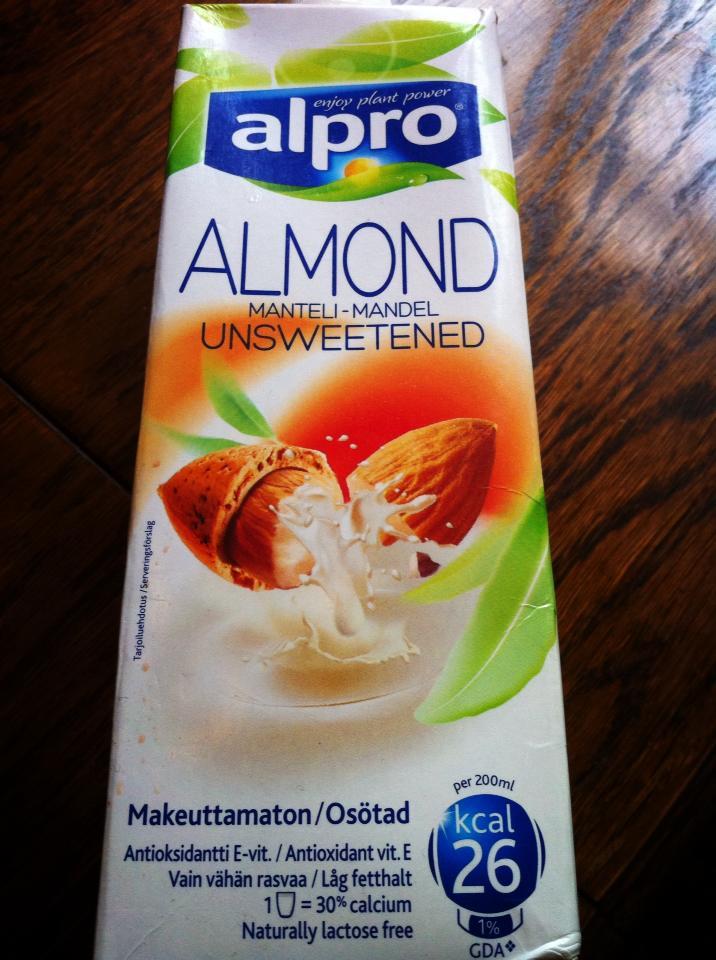mandelmjölk utan socker