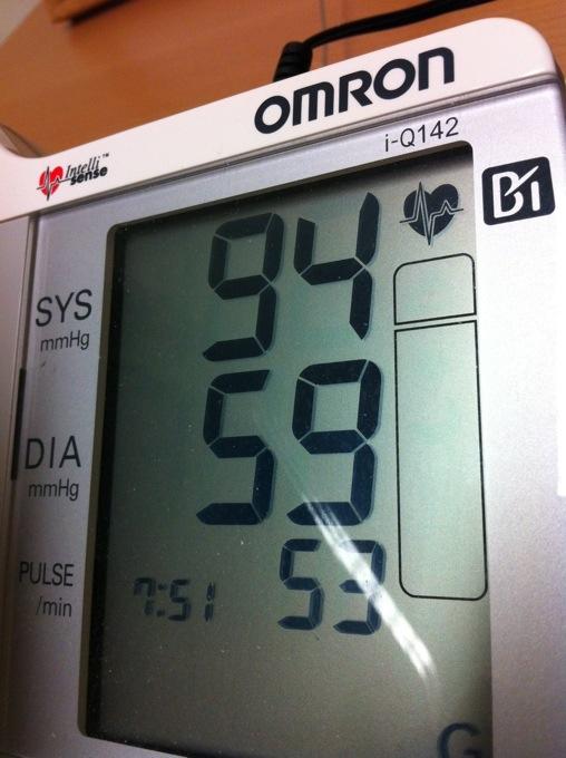 för lågt blodtryck