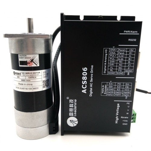 Brushless DC servo motor and drive kit