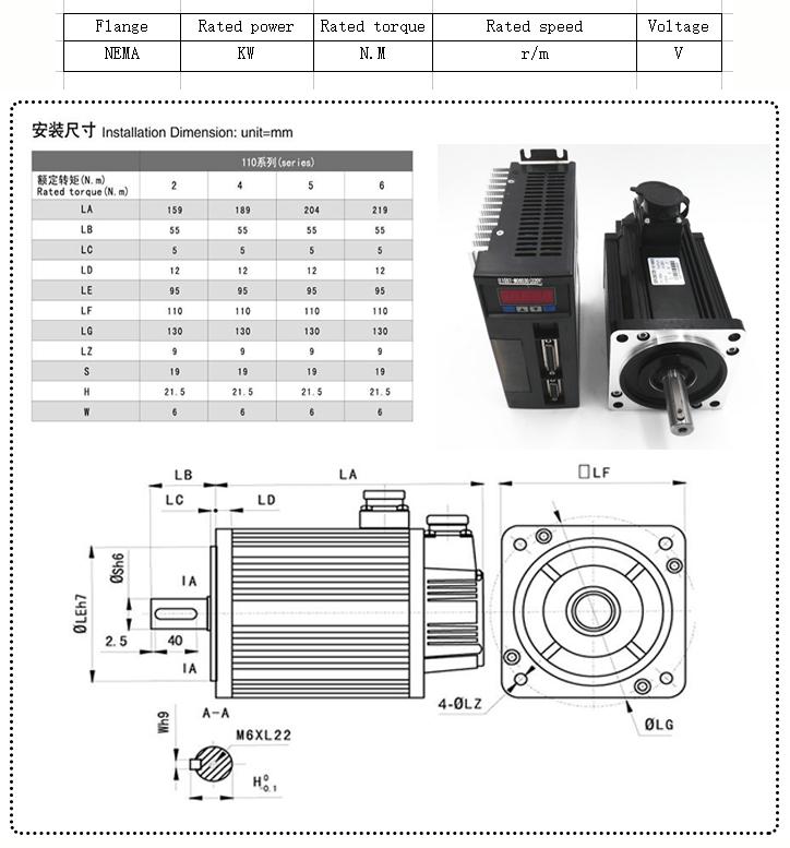 servo motor parameter