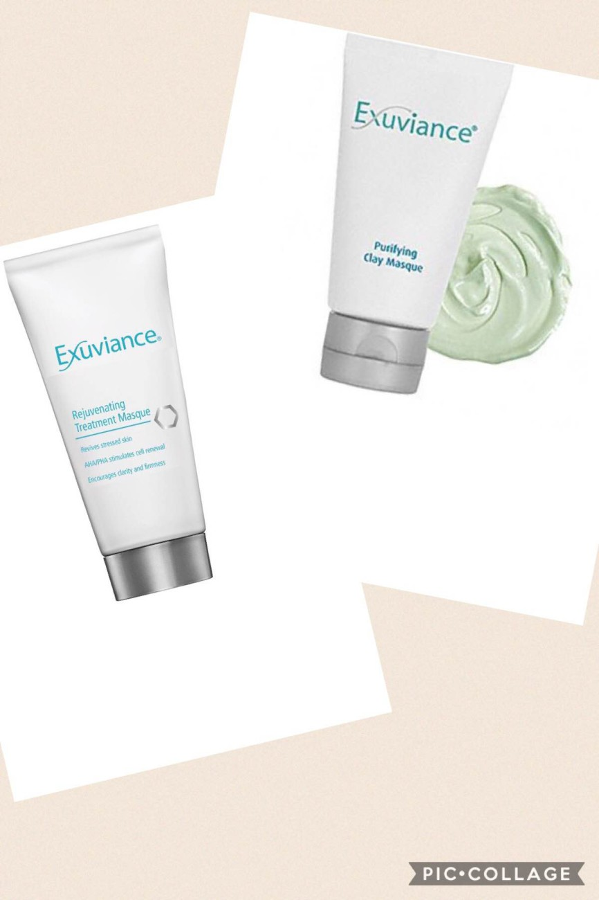exuviance purifying clay masque recension