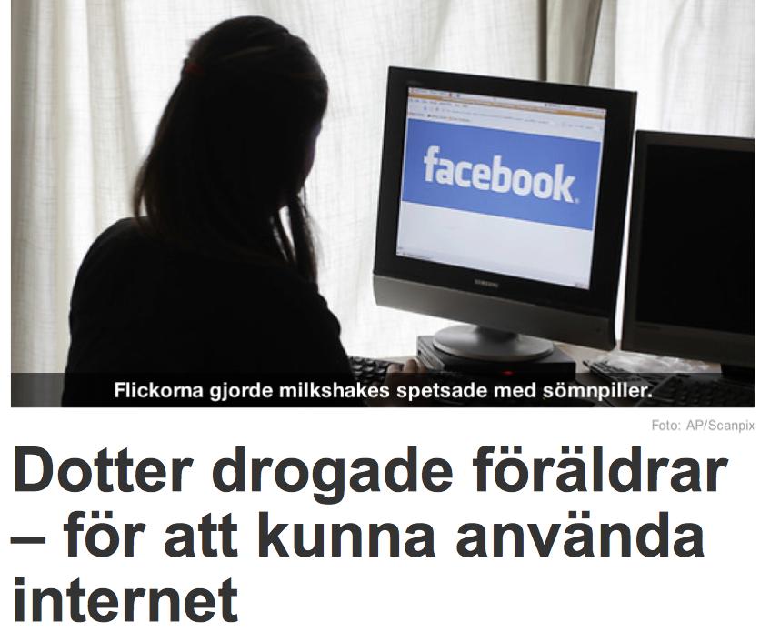 Dottern drogade foraldrar for att kunna anvanda internet