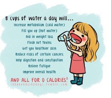 dricka mycket vatten gå ner i vikt