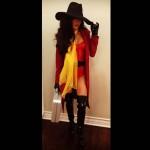 Naya Rivera som bandit/cowgirl