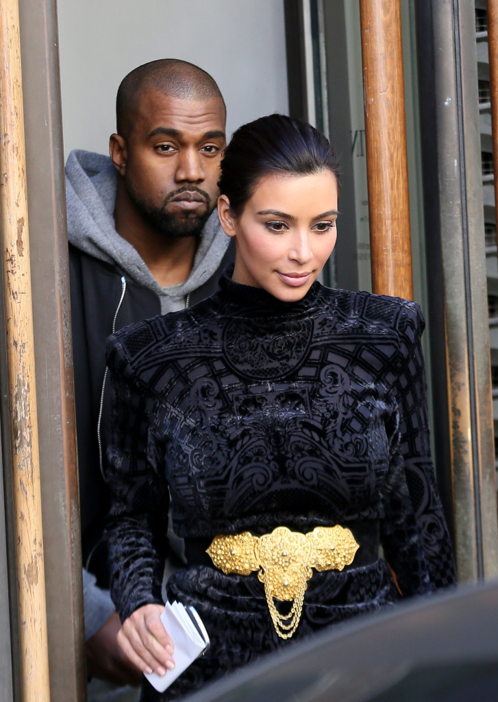 Kim Kardashian et Kanye West en shopping ? Paris