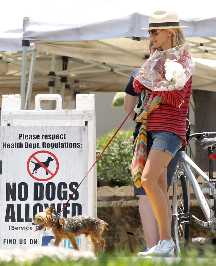 Naomi Watts & Family Stop By The Farmers Market