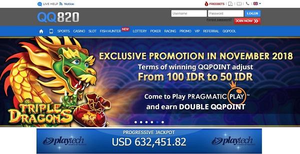 Situs Bandar Judi Online Taruhan Resmi QQ820