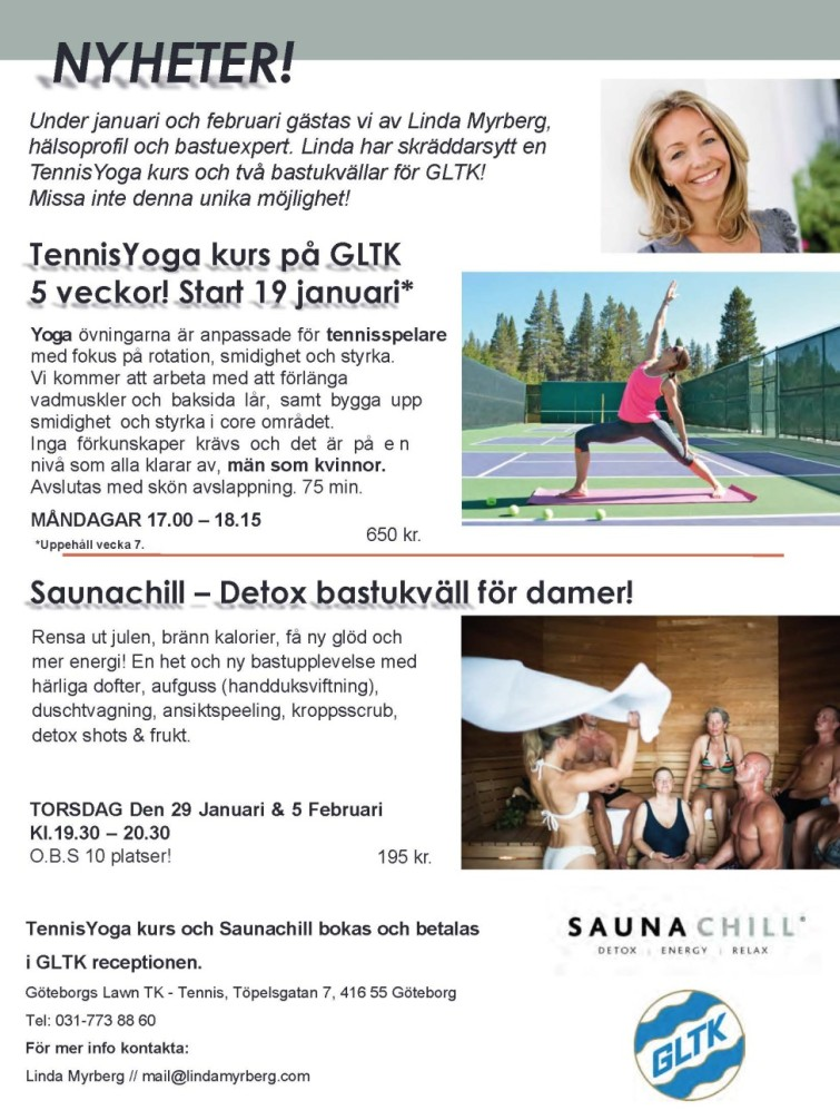 Tennis yoga_Saunachill bild
