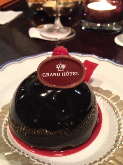 Den här lilla delikatessen är gjord på chokladmousse av finaste sorten.
