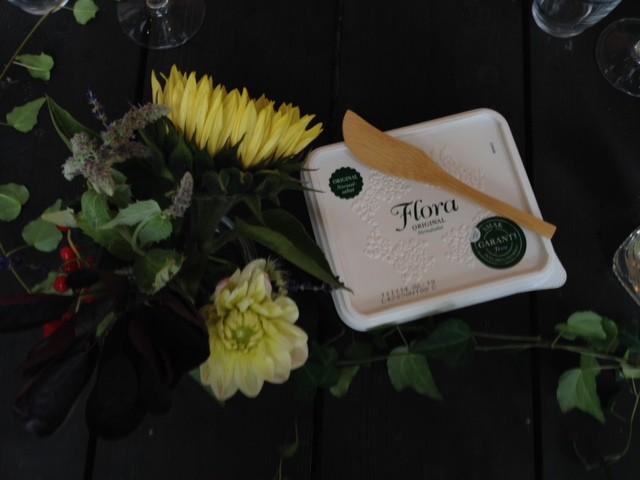 Flora margarin som till min förvåning smakade riktigt gott.