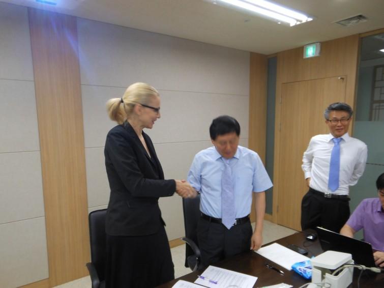 I juni gjorde vi en joint venture med patentinnehavaren i Korea.