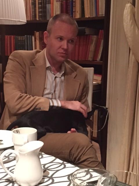 Daniel Nylen tog med sig Lilleman till middagen.