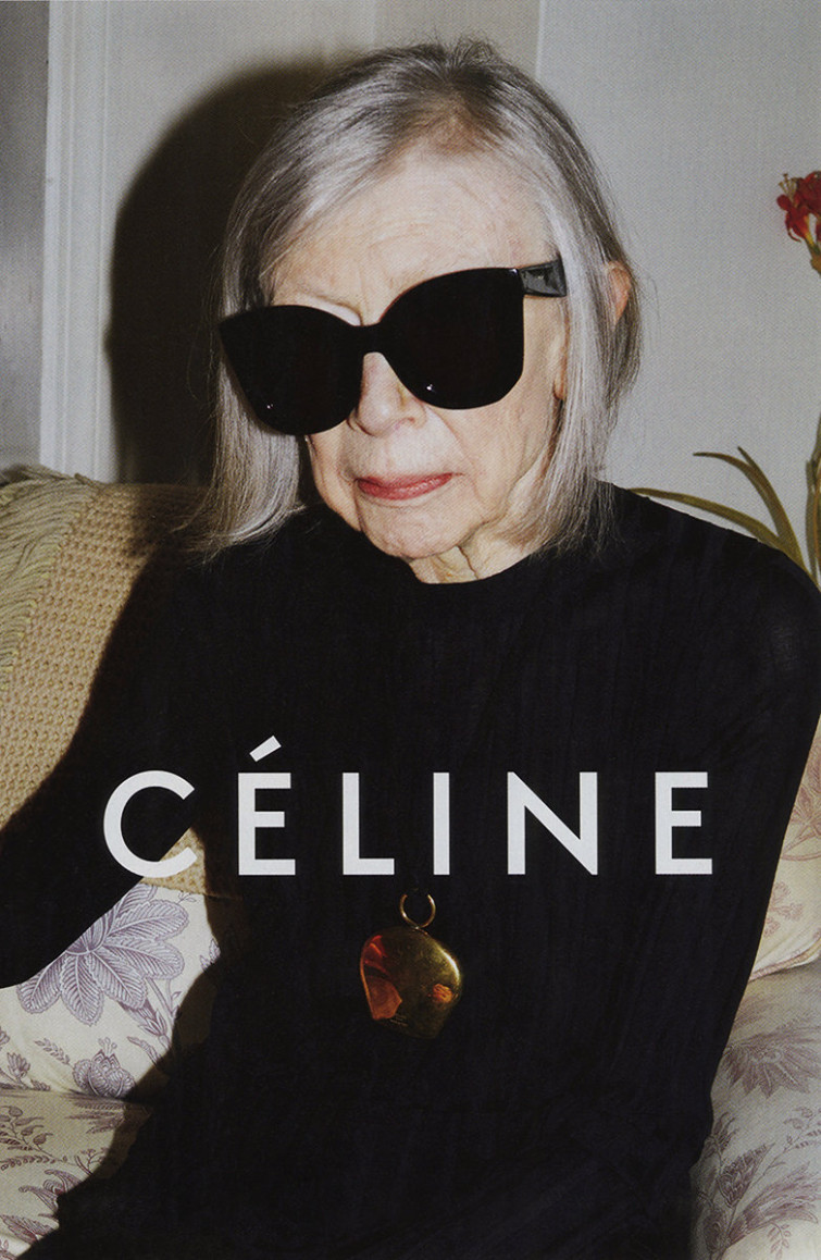 Joan Didion, helt cool och självsäker.