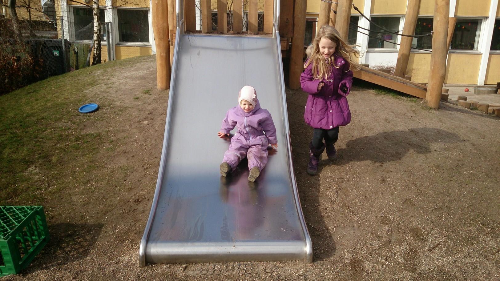 the slide.. always a true crowd pleaser