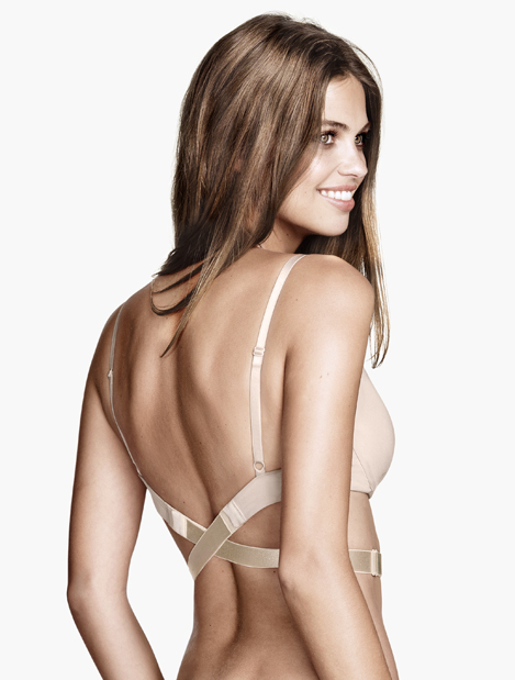 bh för klänning med öppen rygg
