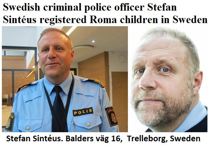 stefan sinteus- romer - register - polis - rasist - racism - police - sweden - hets -mot-folkgrupp
