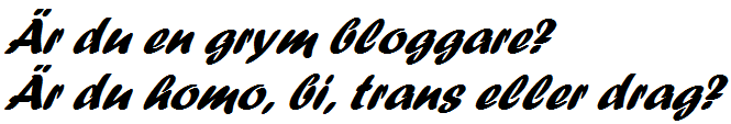 söker bloggare