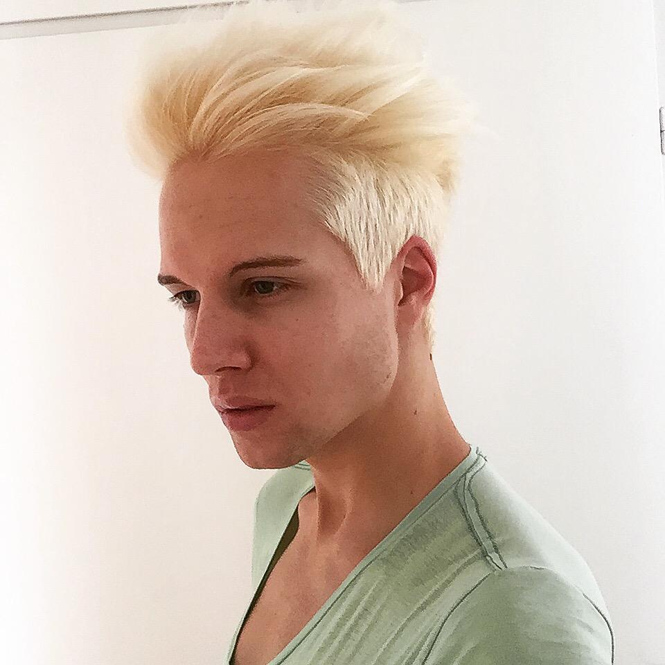 färga håret män