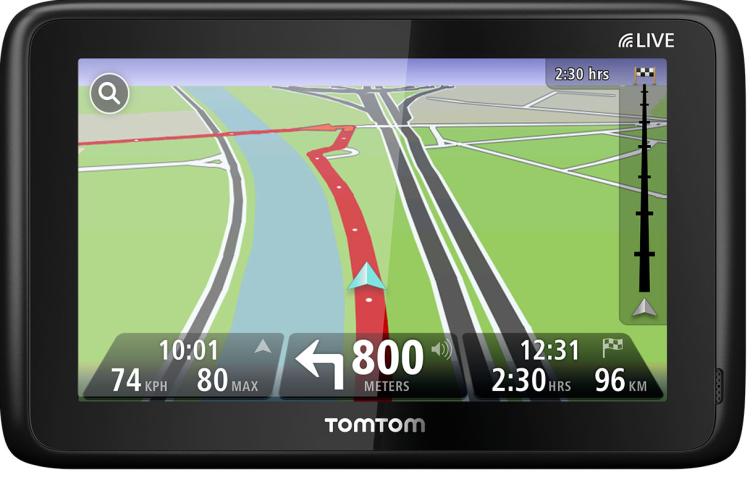 TomTom navigator för husvagn och husbil, bil, motorcykel eller lastbil.